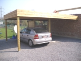 Carport en schutting